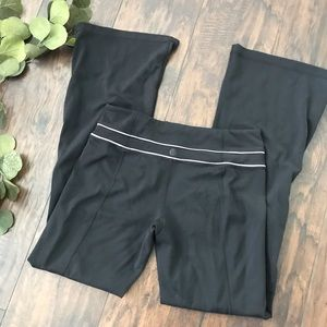 Lululemon reversible flare yoga pants black stripe